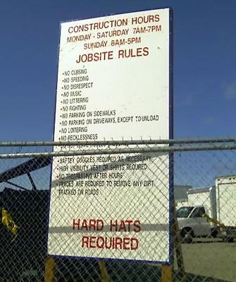military job sign